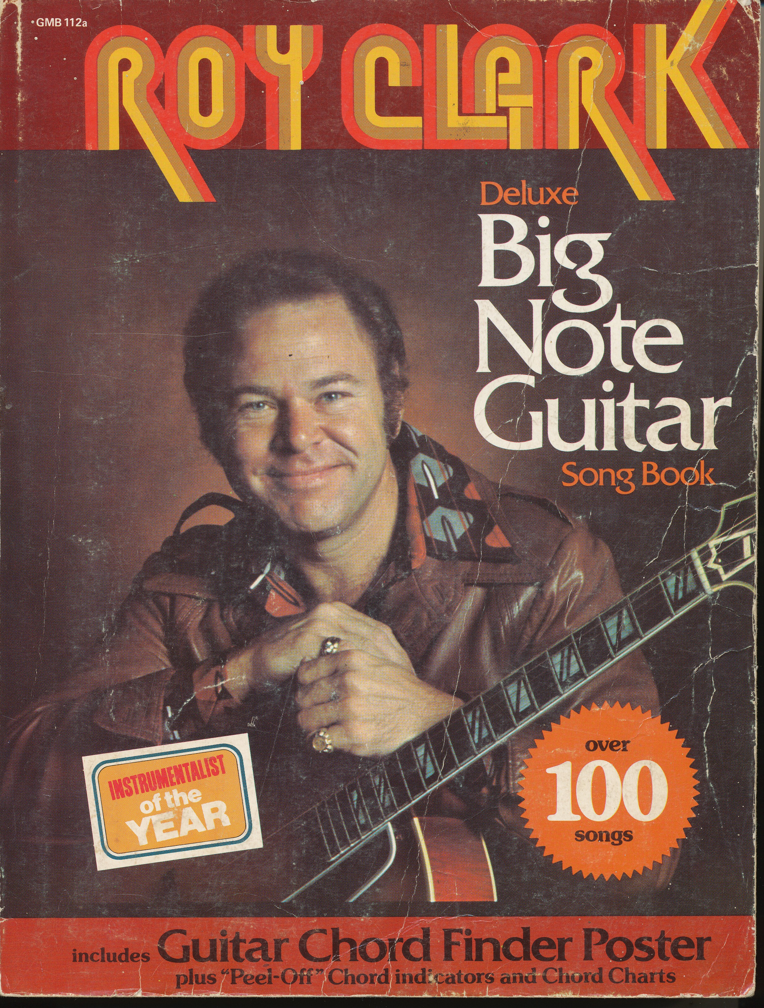 Roy Clark Deluxe Big Note Guitar Song Book